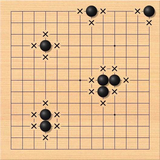 围棋对杀中【气数的计算方法】和【公式口诀】