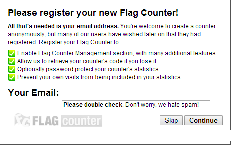 为网站添加【展示国家地区旗帜】FlagCounter访客统计