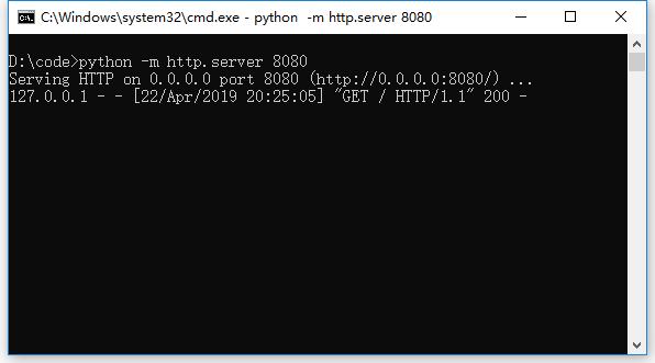 搭建第一个python web服务器