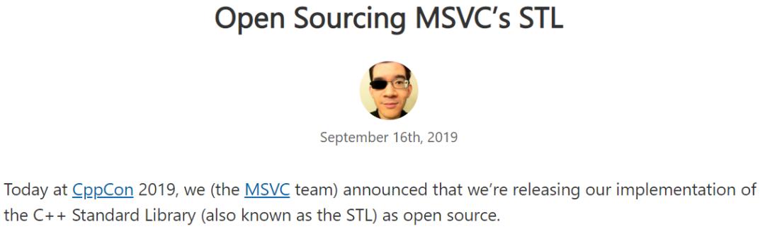 微软宣布开源C++标准库!