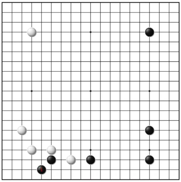 围棋AI布局——二路鬼手小尖