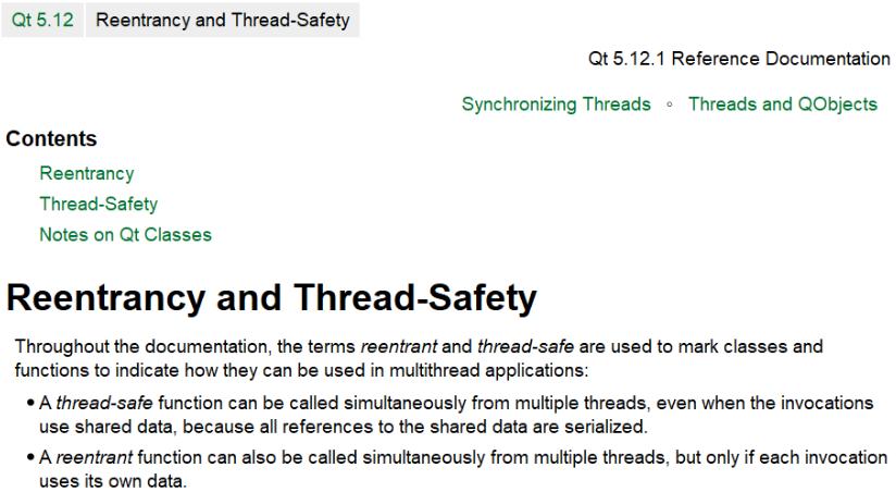QT可重入与线程安全