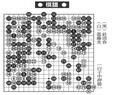 《棋魂》第165回五五天元开局sgf棋谱